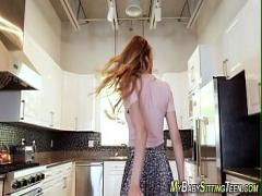 Full amorous video category teen (480 sec). Teenage aupair gets jizz.