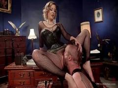 Nice amorous video category bdsm (577 sec). bdsm femdom Cherry Torn and Mike Panic (1).