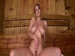 Download film category big_tits (1480 sec). Steamy Sauna Sexy Solo Wooden Spoon Wank by Busty Babe.