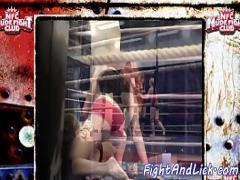 Adult tube video category lesbian (375 sec). Redhead babe wrestling with lesbian crush.
